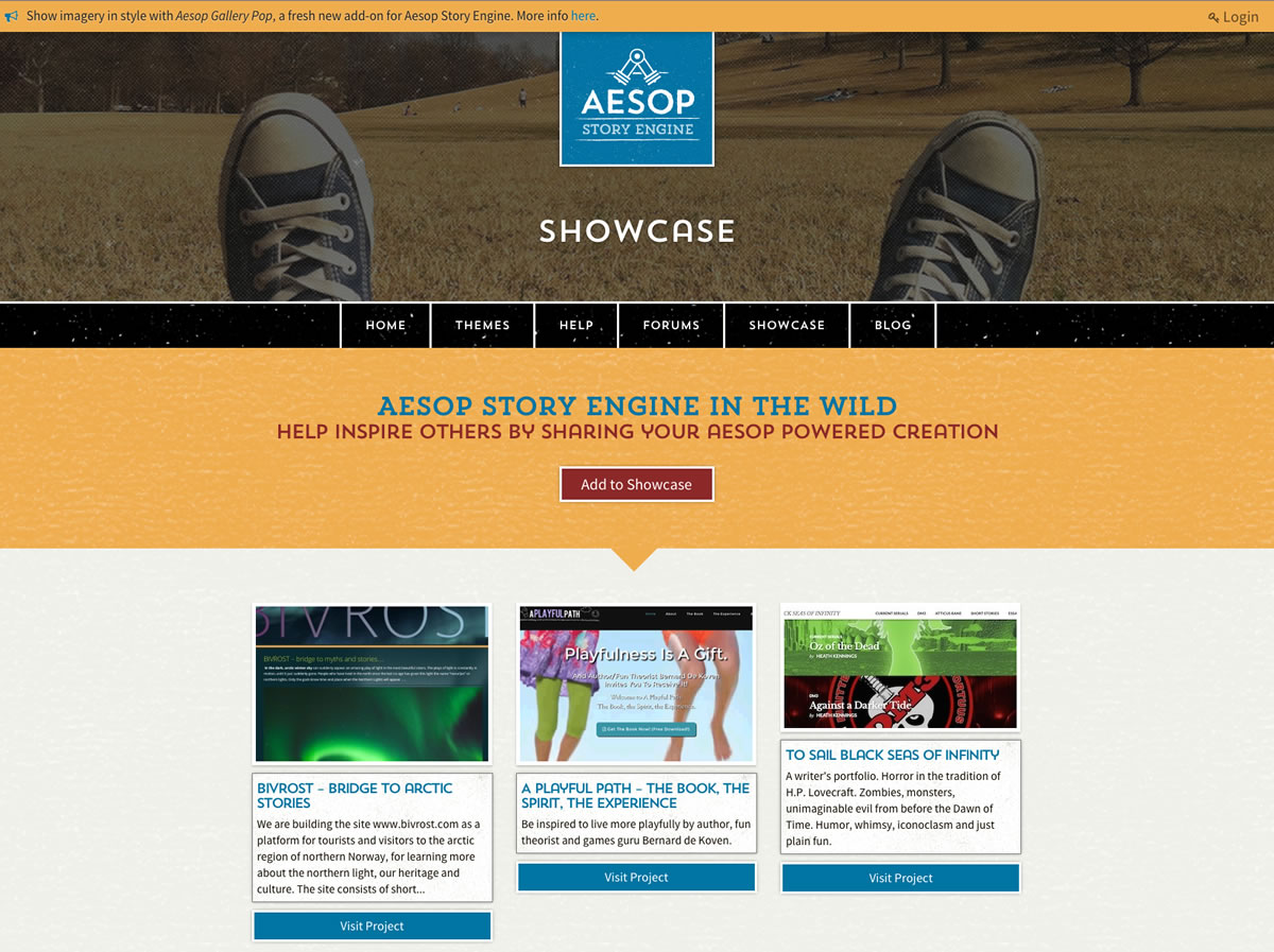A Playful Path is featured in the Aesop Storytelling Engine showcase